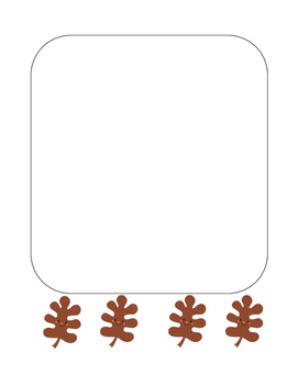 """Autumn Happy Leaf 2"" Writing Sheets!  Autumn FUN! (Color and Black Line)"