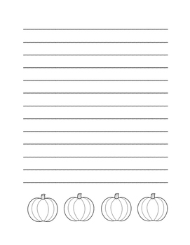 """Autumn Pumpkin"" Writing Sheets!  Autumn FUN! (Black Line)"