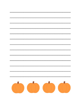 """Autumn Pumpkin"" Writing Sheets!  Autumn FUN! (Color and Black Line)"
