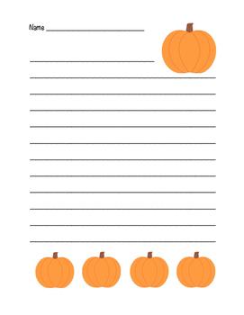 """Autumn Pumpkin"" Writing Sheets!  Autumn FUN! (Color and B"