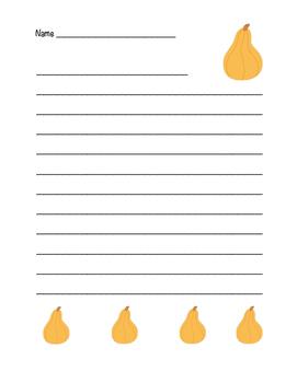 """Autumn Squash"" Writing Sheets!  Autumn FUN! (Color)"