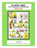 """""""Avoir"""" et les expressions idiomatiques - jeu de l'oie"""