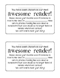 """Awesome Reader"" Note Home FREEBIE!"