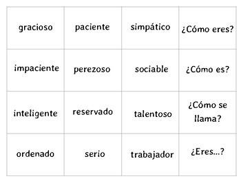 ¡Ay Caramba! Game to review vocabulary from Realidades - Capítulo 1B