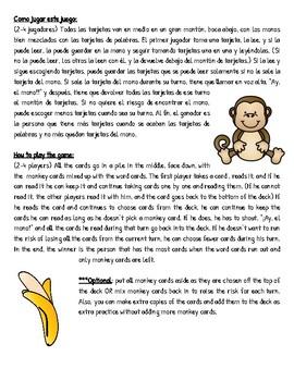 ¡Ay, el mono! Un juego singular de palabras de altafrequencia para K-2