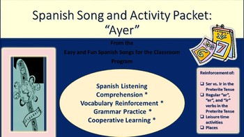 """Ayer"": Song and Activity packet"
