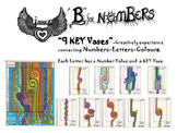 """B""-Numbers-9 KEY Vases"