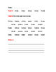 """B"" Sight Words Worksheet"