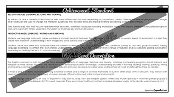 (B&W) YEAR 4 AUSTRALIAN CURRICULUM CHECKLIST BUNDLE