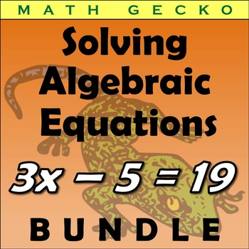 #B110 - Solving Algebraic Equations Bundle