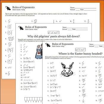 #B260 - Rules of Exponents Bundle