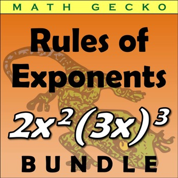 #B260 Rules of Exponents Bundle