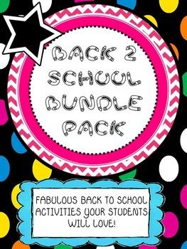 * BACK 2 SCHOOL BUNDLE * Fun & Fabulous Activites to Start