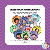[BADGES] Multicultural Helper Badges in colour & b/w