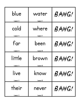 """BANG!"" 1st Grade Houghton Mifflin Journeys Unit 3 Vocabulary Game Packet"