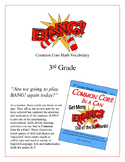 """BANG!"" 3rd grade Common Core Math Vocabulary Game"
