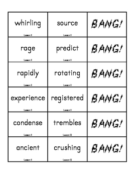 """BANG!"" 4th Grade Houghton Mifflin Journeys Unit 3 Vocabulary Game Packet"