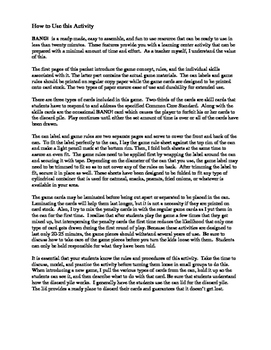 """BANG!"" 4th Grade Houghton Mifflin Journeys Unit 4 Vocabulary Game Packet"