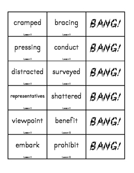 """BANG!"" 5th Grade Houghton Mifflin Journeys Unit 3 Vocabulary Game Packet"