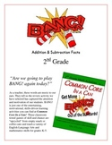 """""""BANG!"""" Addition & Subtraction 2nd Grade Common Core Game Packet"""