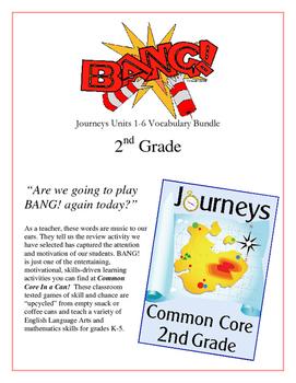 """BANG!"" Houghton Mifflin Journeys 2nd Grade Units 1-6 Vocab Bundle Packet"