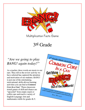 """""""BANG!"""" Multiplication Facts 3rd Grade Common Core Game"""