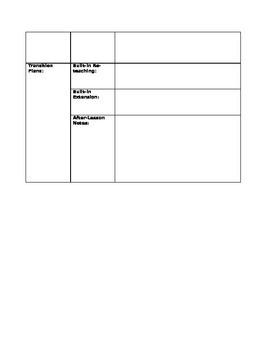 (BD-Style) Unit & Daily Lesson Plan Reproducibles!!