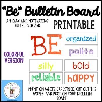 """""""BE"""" Bulletin Board Printables"""