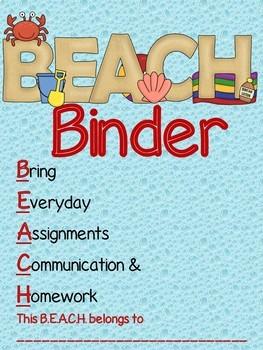 *BEACH BUNDLE* 217 Beach Themed Decorations {Watery Blue/Sandy Beach Design}