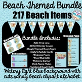*BEACH BUNDLE* 217 Beach Themed Decorations {Watery Blue/S