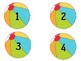 Colorful Beach Balls With/Without Number  {Classroom Mgt.} 3 Different Sizes