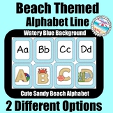 **BEACH Themed** ALPHABET LINE {2 Options} Watery Blue w/