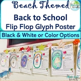 *BEACH Themed* BACK TO SCHOOL Flip Flop Poster Glyph {11x1