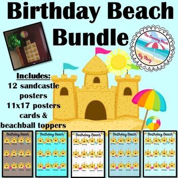 **BEACH Themed** Birthday Beach BUNDLE {Posters & Gifts}