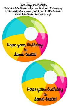 **BEACH Themed** Birthday Beach 11x17 Poster {1 Poster/ 5 Backgrounds}