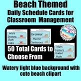 **BEACH Themed** Daily Schedule Cards {50 Cards Total} Wat