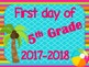*BEACH Themed* {FREEBIE} First Day of School Signs for GRADES K-5