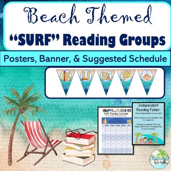 **BEACH Themed** SURF Small Group Reading: Posters, Banner, & Schedule