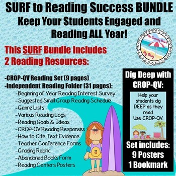 **BEACH Themed** SURF to Reading SUCCESS BUNDLE {2 Resources with 40 pages}