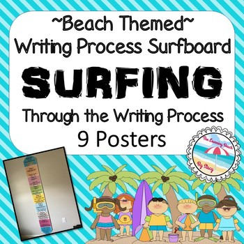 *BEACH Themed* SURFING Through the Writing Process {SURFBOARD Chart: 2 Options}