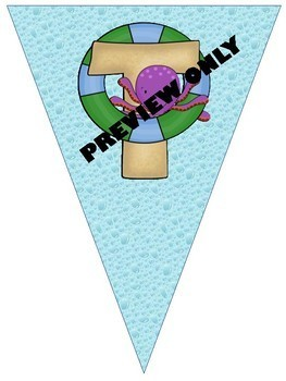 **BEACH Themed** Welcome to School Banner {2 Different Banner Options}