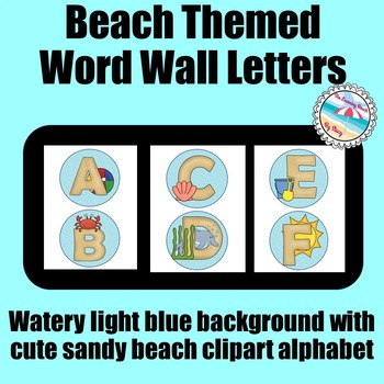 BEACH Themed Word Wall Alphabet