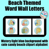 **BEACH Themed** Word Wall Alphabet {Watery Blue with Cute