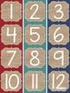 {BEACHY BURLAP} 100 Pocket Chart Numbers