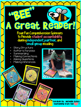 """""""BEE"""" a Great Reader Elementary Comprehension Spinner Set"""
