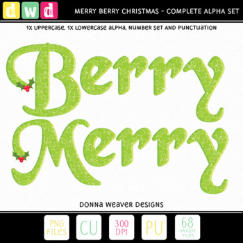 image relating to Merry Christmas Letters Printable identified as Alphabet BERRY MERRY Xmas Seasonal Letters Figures Printable Clip Artwork