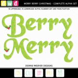 Alphabet BERRY MERRY CHRISTMAS Seasonal Letters Numbers Pr