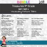 ***BIG BUNDLE*** 4th Grade Treasures 2011 Units 1-6 Vocabulary Fortune Tellers