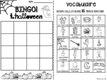 {BINGO: L'Halloween!} A Bingo game to practice French Halloween vocabulary