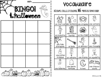 {BINGO: L'Halloween!} A Bingo game to practice French Halloween vocabulary